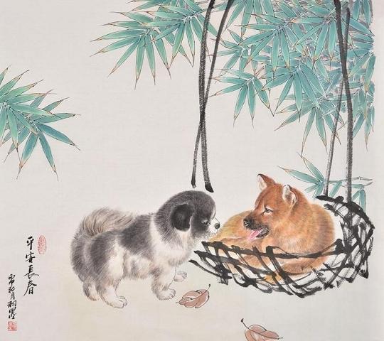 可爱的小动物画讨人喜