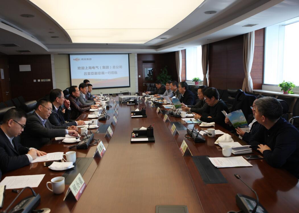 陕西投资集团与上海电气集团就加强新能源合作