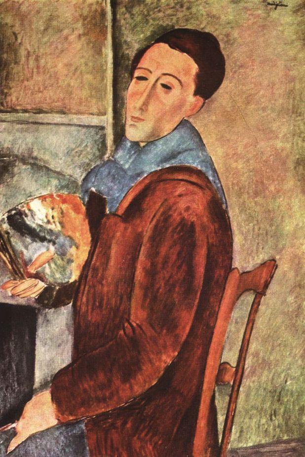 莫迪里阿尼自画像