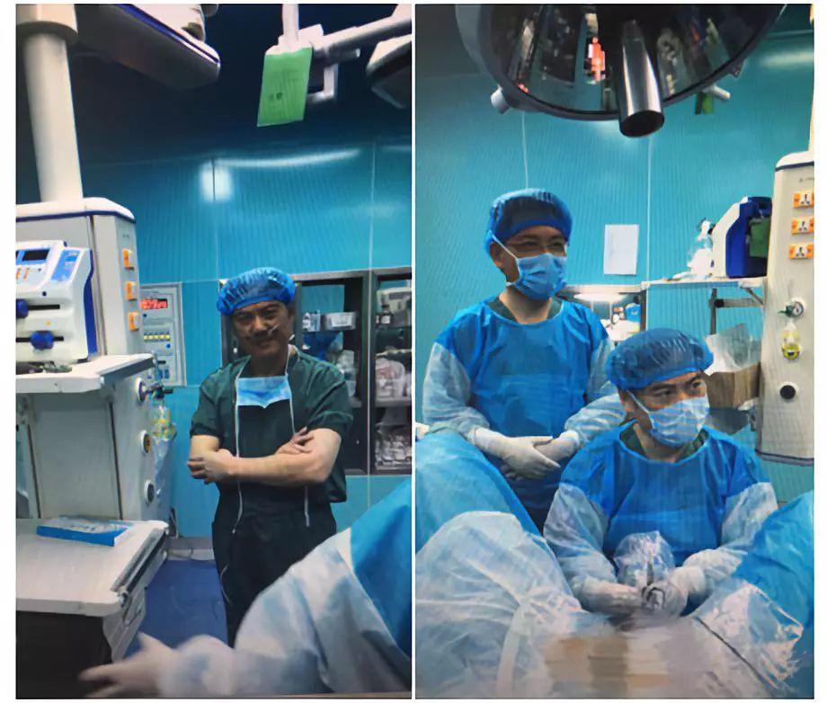 谢立平教授在海拔2980米的青海海西州吸着氧为患者进行TVERP手术.jpg