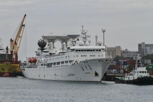 中国远望3号测量船于17日抵达达沃市(菲律宾阿尔托广播系统-纪事广播网广播公司网站)