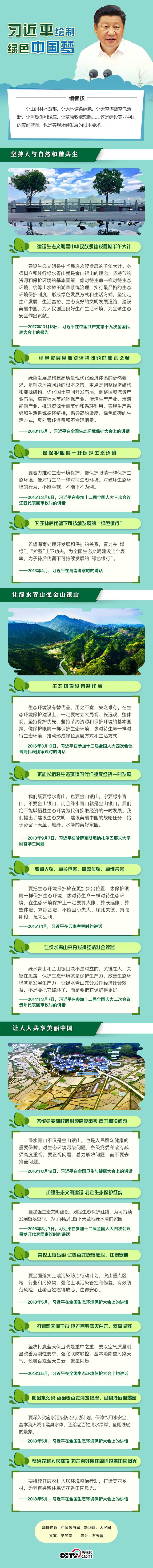 习近平绘制绿色中国梦