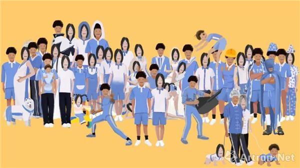 林华池(木十也),《校服改短还能满足你吗?(1-3)》作品截图,创意视频短片,2015-2017