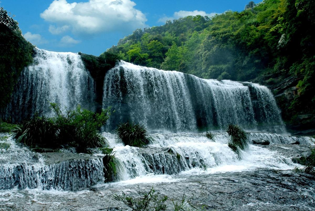 壁纸 风景 旅游 瀑布 山水 桌面 1200_803