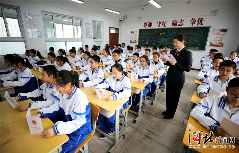大厂回族自治县:普法宣传进校园