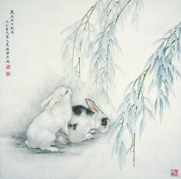 新闻资讯  王永刚为自己笔下的动物们(尤其是兔子,狗和猫)赋予了极为