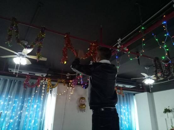 2019年峰程7080年度表彰会暨元宵晚会布置会场