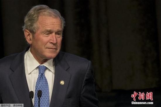 资料图:美国前总统小布什。