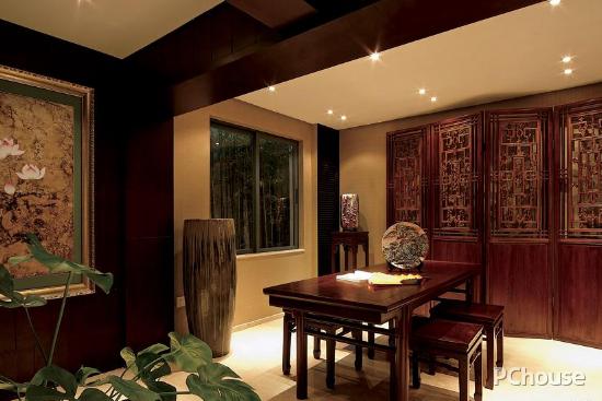 地中海风格的清爽延伸 新中式别墅装修效果图