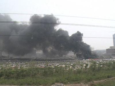 天津港爆炸事故现场