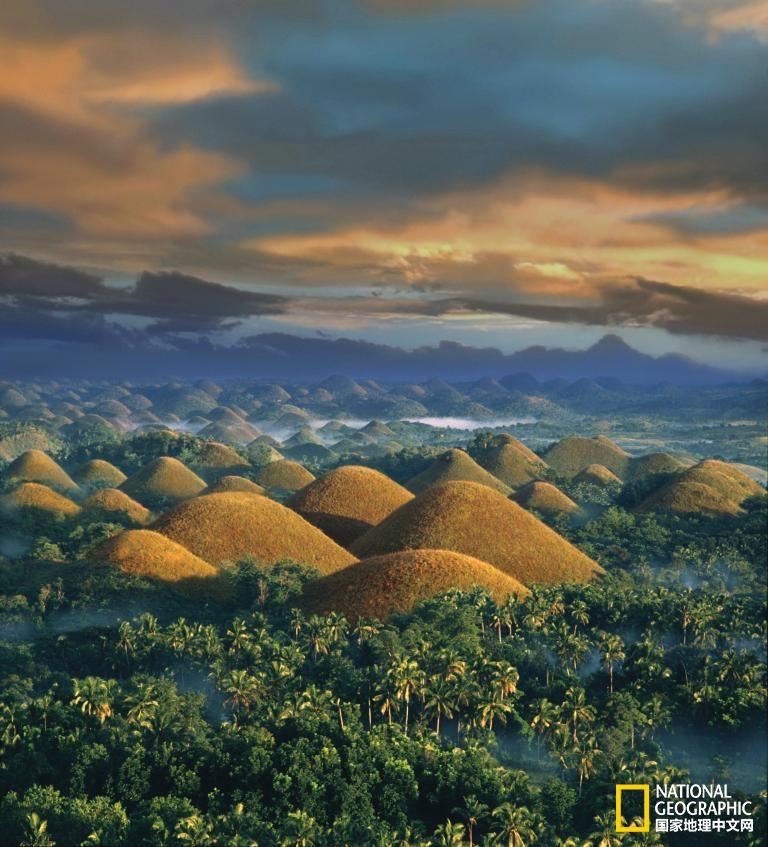 菲律宾的薄荷岛巧克力山