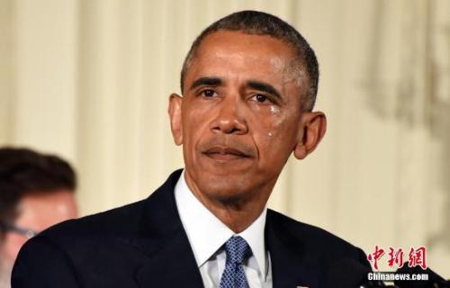 2016年1月5日,奥巴马白宫举行发布会,宣布将采取系列行政措施遏制枪支暴力。他在提及2012年桑迪胡克小学枪击案时落泪。<a target='_blank' href='http://www.chinanews.com/' _fcksavedurl='http://www.chinanews.com/'></p><p class=