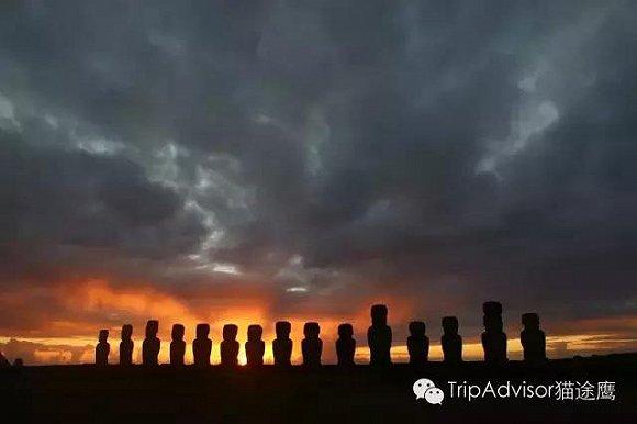 """复活节岛被当地人称为""""阿胡通伽利基""""(ahu tongariki),意思就是""""石像"""