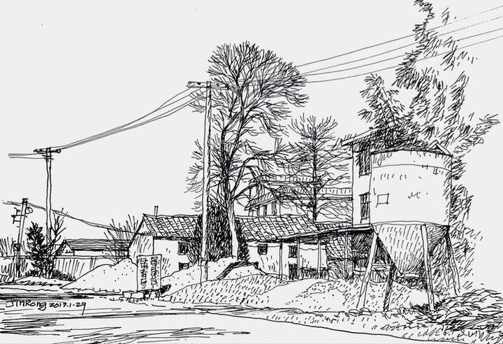 城市  村里公共环境不太好,无人居住的老房子境况堪忧.