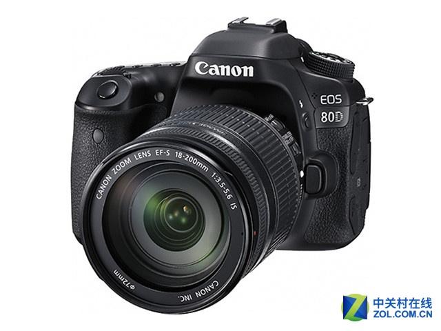 搭配18-200mm镜头佳能80D套机8430元