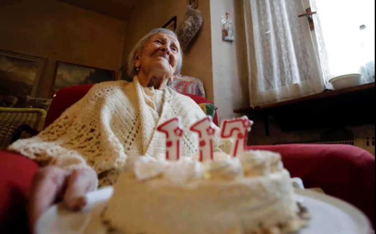 世界最长寿老人在意大利逝世 终年117岁 (图)