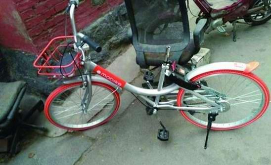 共享单车进入济南仅10天车子被盗车座被撬走