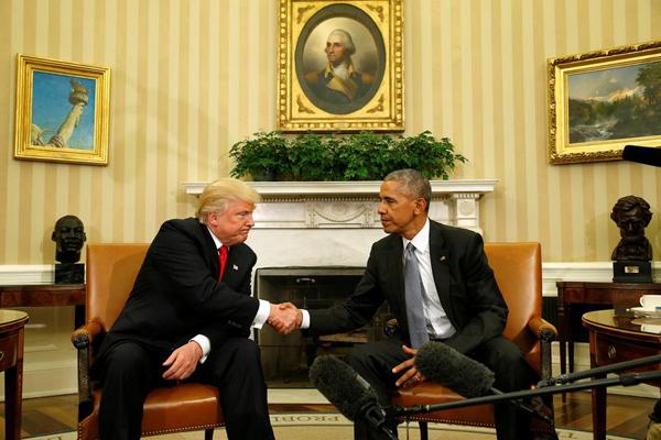 任期内翻修白宫椭圆形办公室了,他决定把这个责任推给候任总统特朗普.