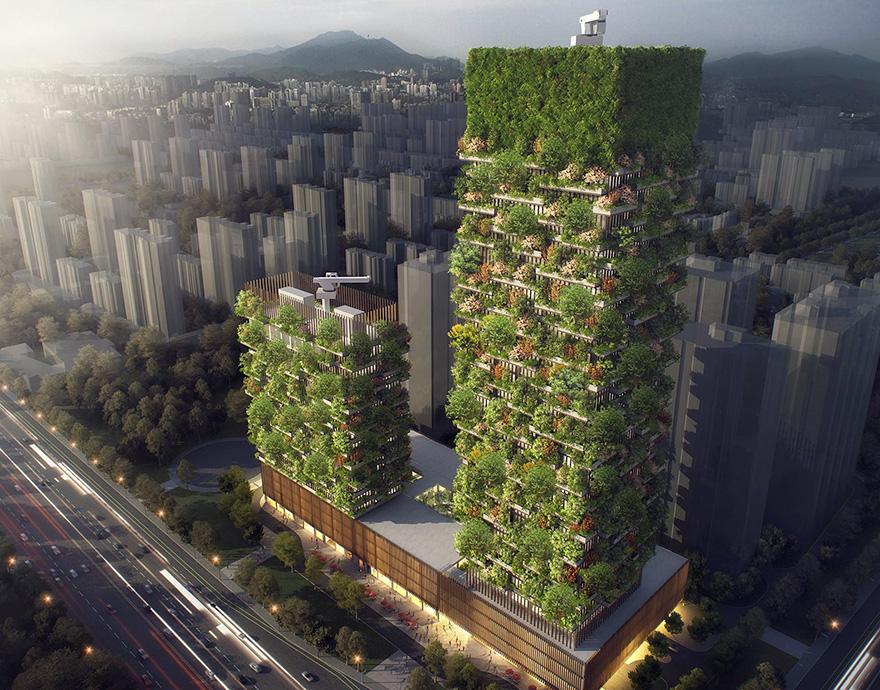 """""""垂直森林""""设计图(图片来源:外国媒体)"""