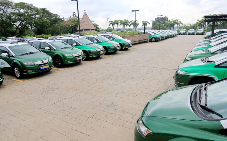 能源出租车队投入商业运营,标志着东南亚最大纯电动出租车队正式启动.图片