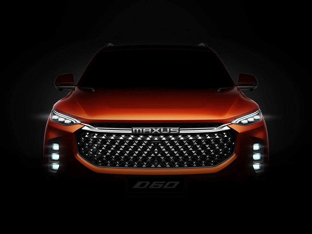 上汽大通D60官图预告图 配2.5级智能驾驶系统