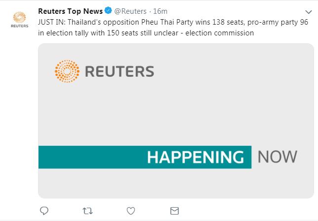 泰大选非正式统计结果公布:支持他信的为泰党获138席