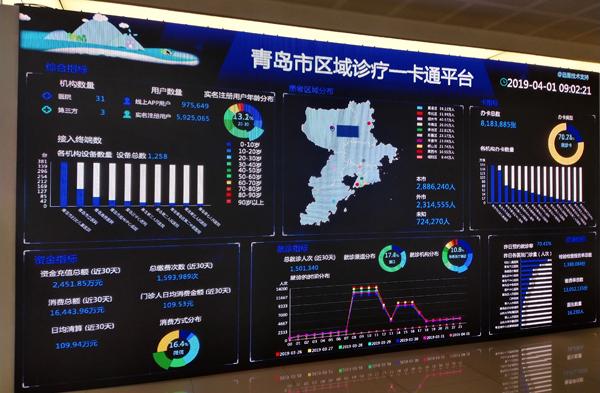 青岛市区域诊疗一卡通服务平台。 邹杨摄