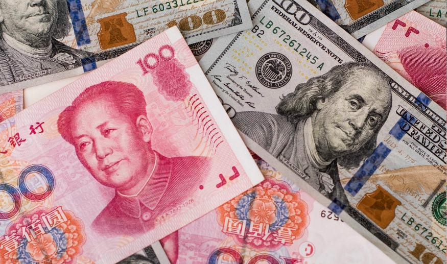 离岸人民币兑美元跌破6.85关口 日内跌超400点