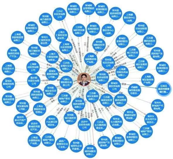 ▷天眼查数据显示,与王振华相关的公司多达194家,由其担任法定代表人的56家,其中3家由其100%控股