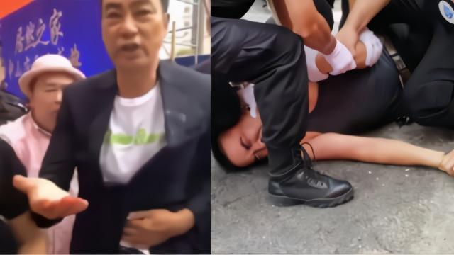 现场:任达华在广东遭男子袭击 腹部中刀流血