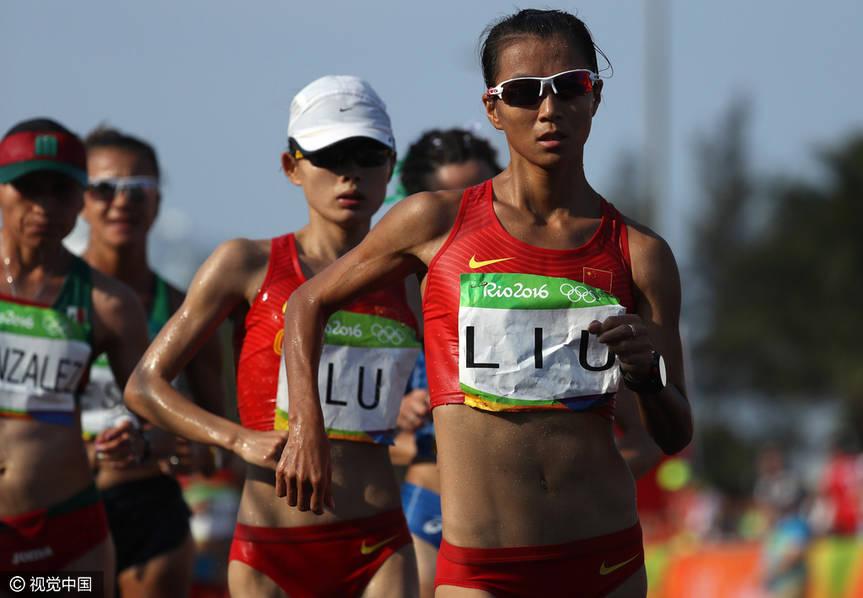 女子竞走冠军_女子20公里竞走刘虹夺冠 解说:像百米冲刺_凤凰