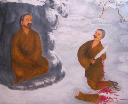 军事资讯_河南男子雪地跪一夜求拜师 最后砍下左臂表决心_凤凰佛教