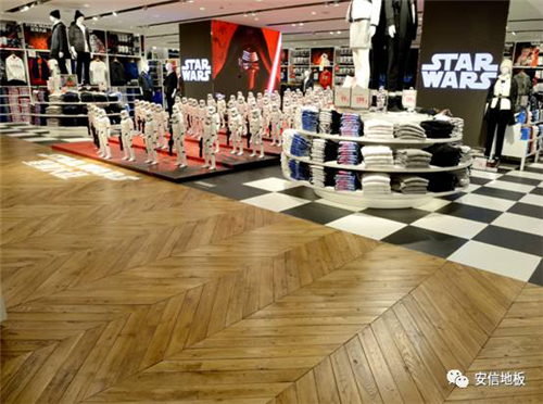 安信地板,優衣庫,魚骨拼地板