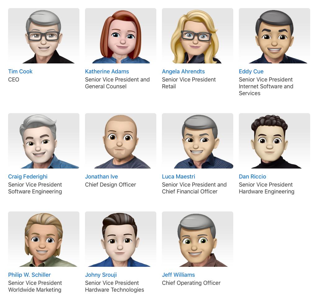 前线 | 庆祝世界表情符号日:苹果高管统一更换Memoji头像