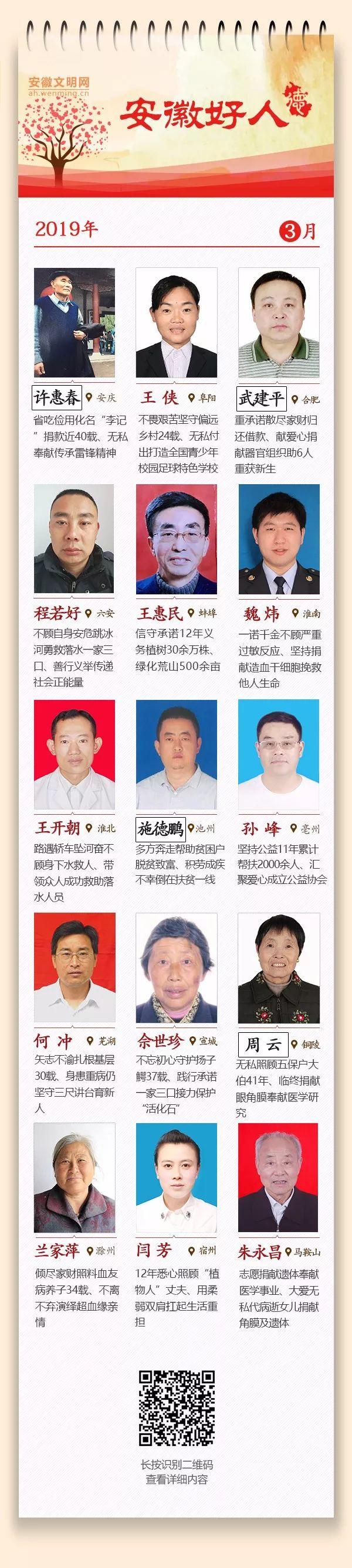 """3月份""""安徽好人""""榜单揭晓 六安程若好入选"""